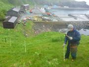 知床岬地区に設置された電気柵
