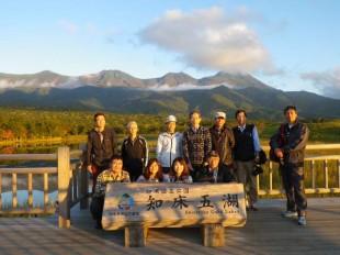 秋の知床五湖。とても美しい風景でした。