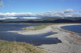 シホテ-アリンスキー国立生物圏保護区(世界自然遺産)の海岸と汽水湖