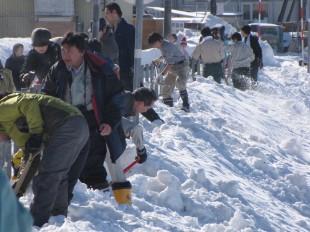 ガードレールの雪かきボランティアに参加しました③