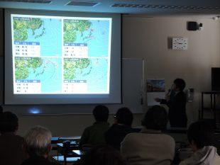 斜里町(1/29)の様子。12月の札幌の大雪も実は・・・。身近な話に参加者も熱心に聞いていました。