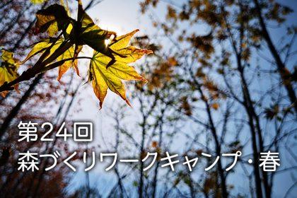 「第24回森づくりワークキャンプ・春」開催報告