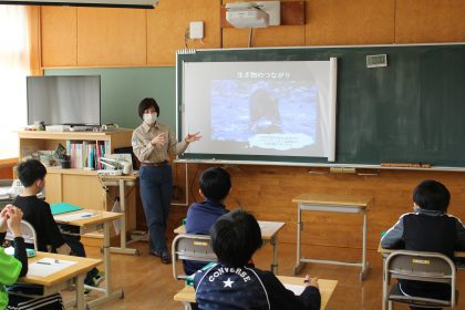 知床ウトロ学校で「環境と観光」の授業を行いました